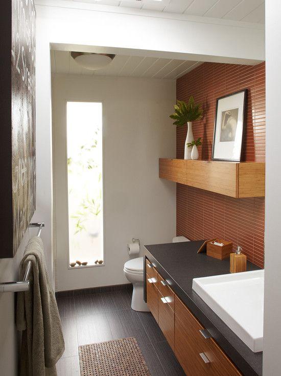 Mid Century Modern Bathroom Design Interesting Design Decoration