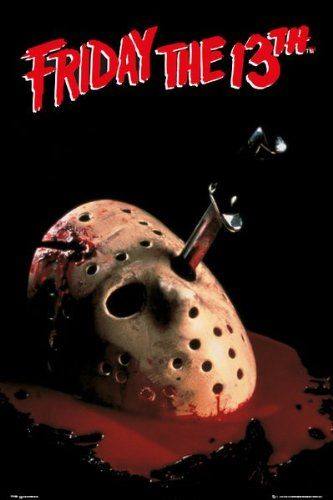 Officially Licensed Jason Voorhees Friday The 13th Poster 61x91.5cm @ niftywarehouse.com #NiftyWarehouse #Geek #Horror #Creepy #Scary #Movies