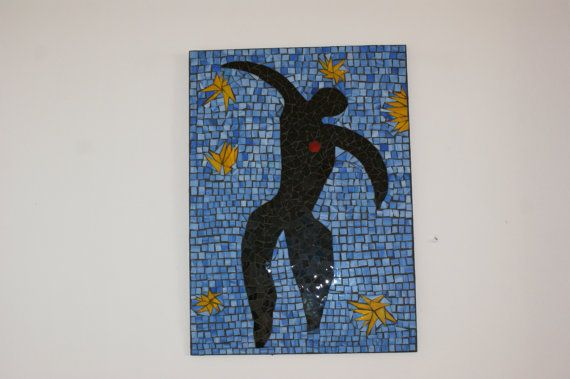 Mosaic Icarus Henri Matisse Stained Glass Made by ArtGlassAnazie