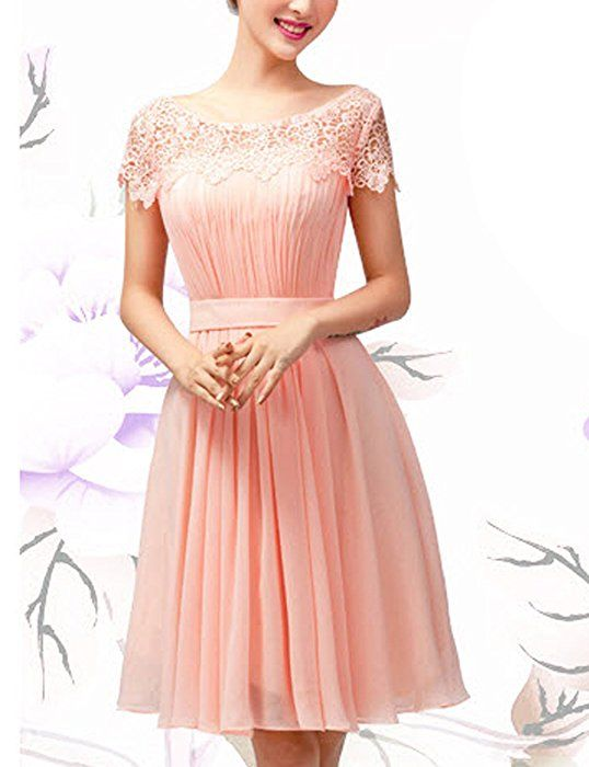 Lactraum Brautjungfernkleid Ballkleid Abendkleid Abschlussball Kleider Hochzeitskleider Abiballkleid Spitze LF4083 (34)