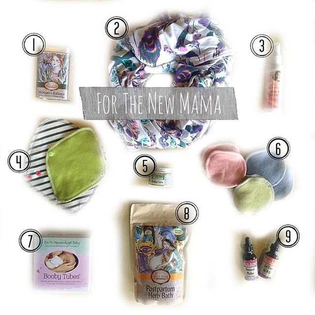 Show your new mama some love. Here are some of our favorite essentials: including Earth Mama Angel Baby!
