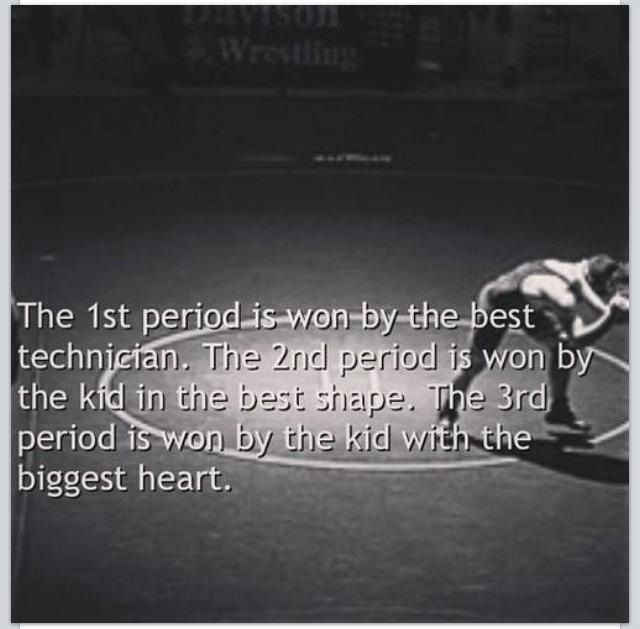 This is as true as it gets except for the fact that the one who wins in any period is the one with the most heart