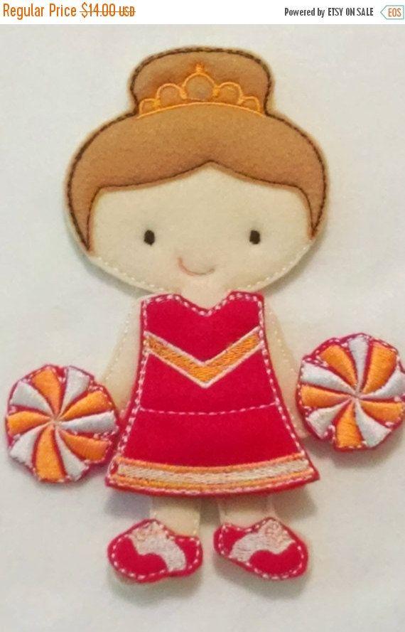 YEAR END SALE Ava Grace doll plus Cheer leading felt set  Quiet Game felt gamel travel toy  Felt Favor Children's Toy