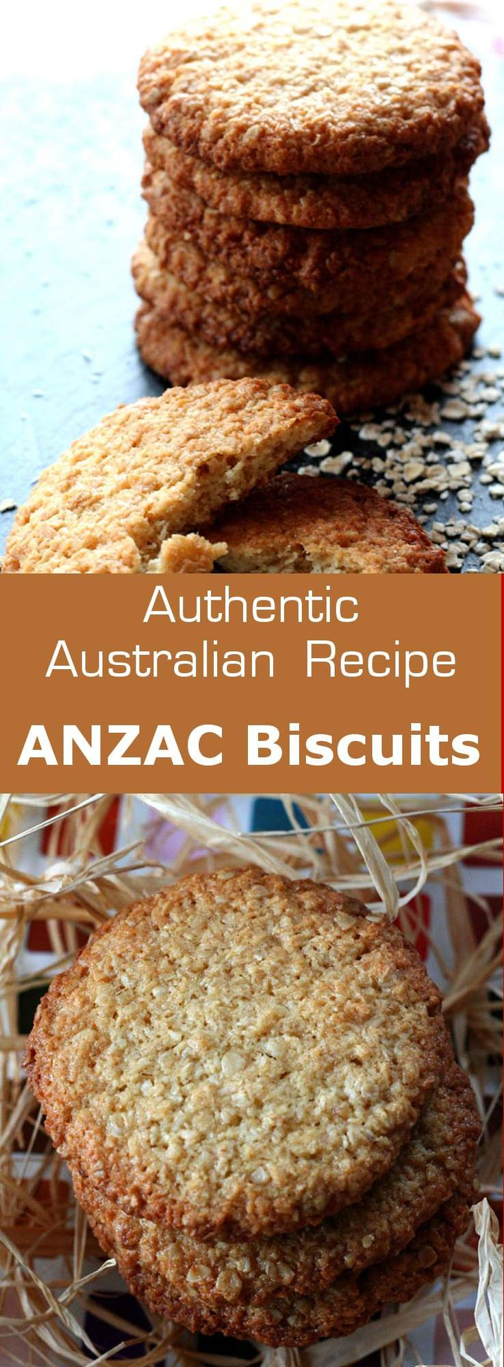 Authentic recipe of Australian ANZAC biscuits with rolled oats and coconut…