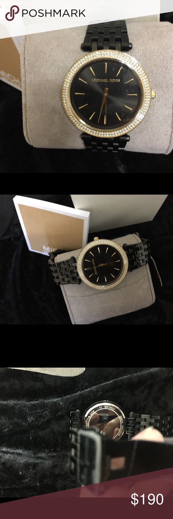 MICHAEL KORS LADIES WATCH ⌚️ Brand new MK watch with black face and black stripe !! Michael Kors Accessories Watches