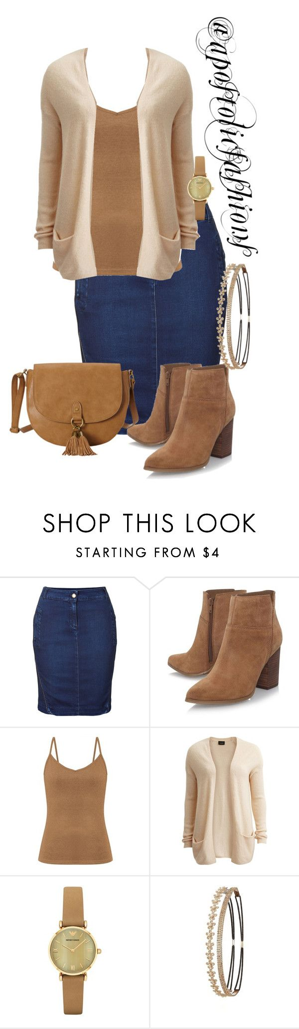 """Apostolic Fashions #1616"" by apostolicfashions ❤ liked on Polyvore featuring Just Cavalli, Nine West, VILA, Emporio Armani, Charlotte Russe, T-shirt & Jeans, modestlykay and modestlywhit"