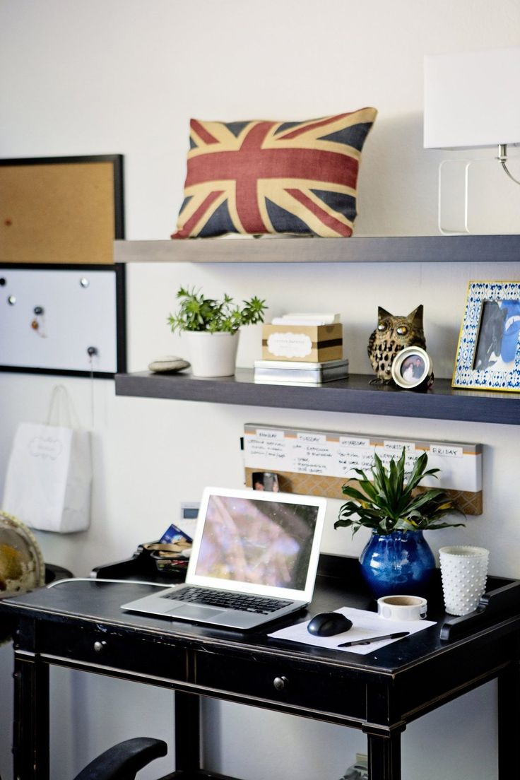 25 Best Ideas About Shelves Above Desk On Pinterest