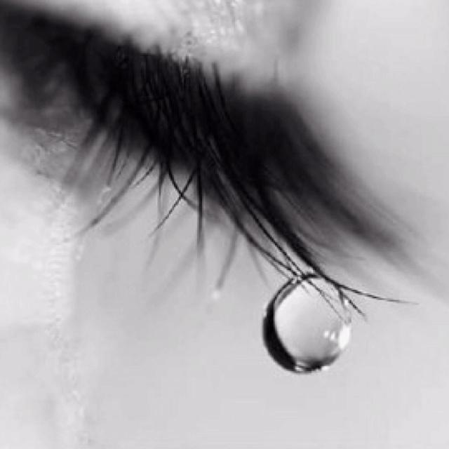 Tear drop... a sad drop or maybe a happy drop