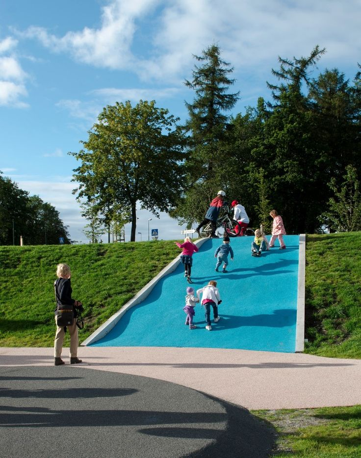 Battery Park Playscape Asplan Viak Trondheim Norway