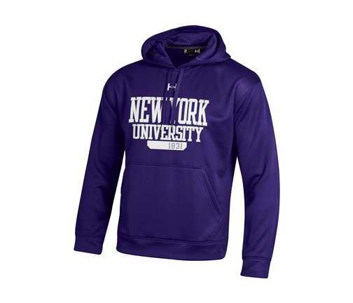 york university hoodie. new york university bookstores - under armour purple fleece sweatshirt hoodie n