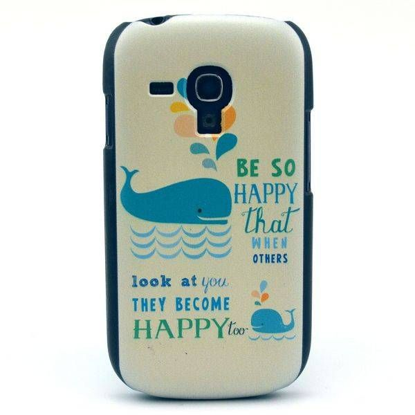 Happy Whale hardcase hoes voor Samsung Galaxy S3 mini