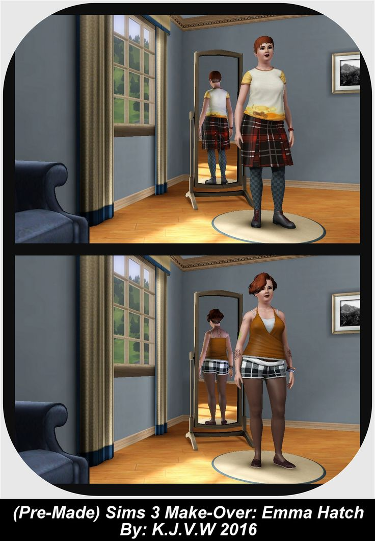 https://flic.kr/p/FbzzkR | Premade) Sims Makeover 2 | Emma Hatch   A townie (NPC Sim) from the neighboorhood Sunset Valey And part of the ''Roomies Household''.   The Sims 3 Franchise belongs to EA/Maxis   I didn't had any commercial purpose to make this, just for fun.