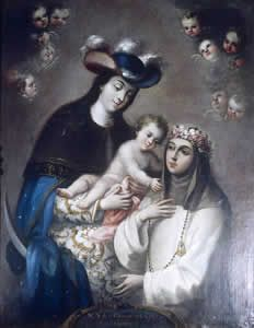 José de Ibarra, Virgen del Carmen de Guatemala y  Santa Rosa de Lima.  Museo Nacional de Arte, Ciudad de México.