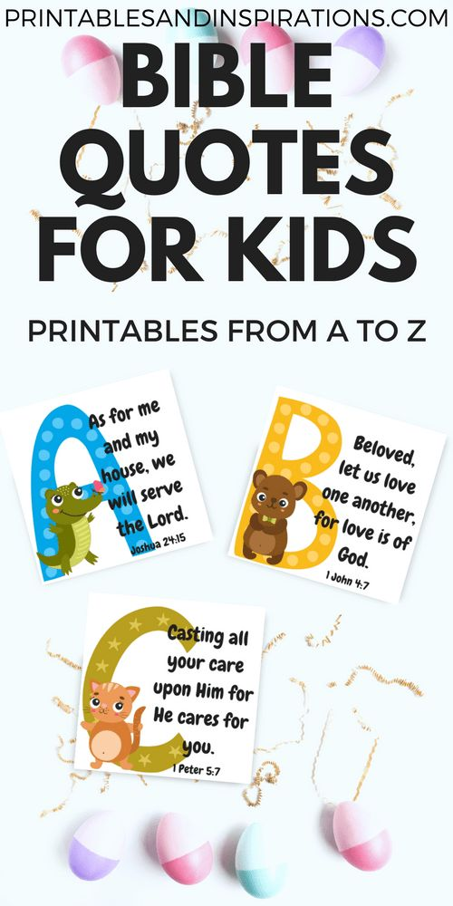 Free Printable Alphabet Memory Verses For Kids Bible Quotes