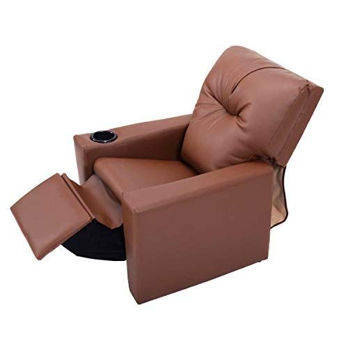 Kids Recliner Chair, Child Recliner Chair With Cup Holder