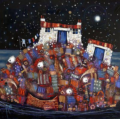 Scottish Artist Ritchie COLLINS - Skye Hoose | I adore this. The detail and colours are wonderful.