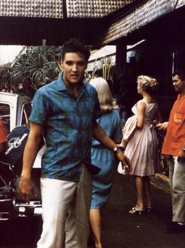 "Elvis in Hawaii for the filming of ""Blue Hawaii"" - 1961 Hello Chadwick;]"