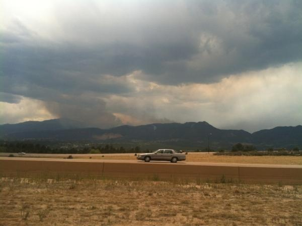 Jerell Klaver - 30% contained yet still burning Waldo Canyon Fire it's getting windy (June 30, 2012)