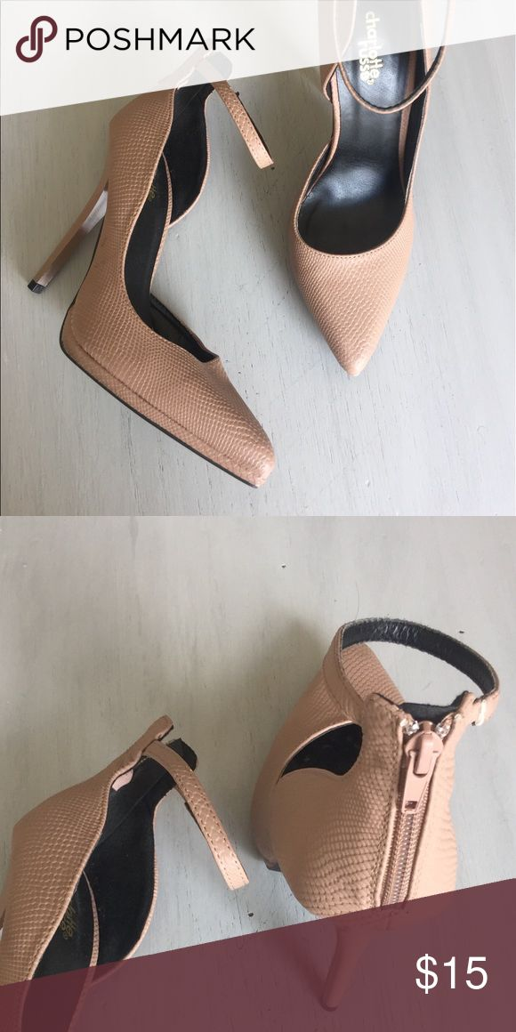Charlotte Russe heels Blush textured size 7heels from Charlotte Russe worn once for an event Charlotte Russe Shoes Heels