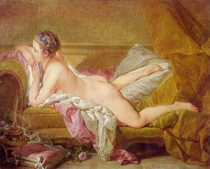 F. Boucher, Probably a portrait of Marie-Louise O'Murphy, mistress to Louis XV of France, 1752, Alte Pinakothek, München
