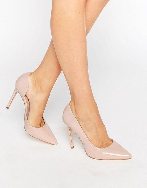 London Rebel Open Waisted Court Shoes at asos.com - Nude Shoes