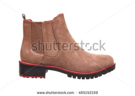 Woman short boot isolated on white background