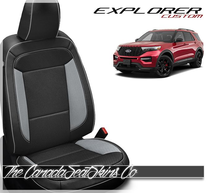 2020 Ford Explorer Custom Leather Upholstery With Images Ford