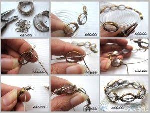 Membuat Gelang Lilit dr Kawat Alumunium - DIY bracelet