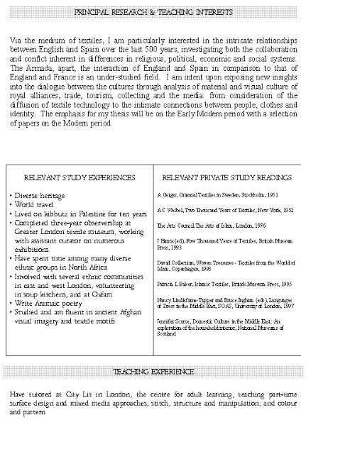 Good CV for studying graduate or doctoral level program, in this case, Middle Eastern studies - last page