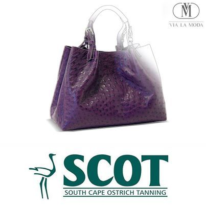 SCOT #ostrichleather is primarily used for the manufacturing of #exoticleather products ranging from exclusive handbags, footwear and accessories in countries around the world. One of its strategic partners is Via La Moda, a high-end South African leather goods manufacturer. SCOT exclusively supplies ostrich leather to Via La Moda, a manufacturer of world-class handbags and small leather goods.