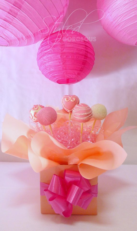 Cake Pops Arrangement in Box  Heart Glamour 6 by StyledGorgeous, $30.00