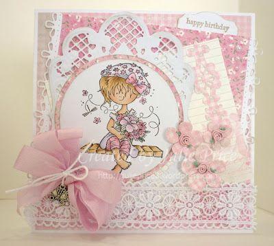 stempel: HM9454 designpaper: pretty papers bloc Eline's Doll House PB7042 creatables: Anja's ovaal LR0236 craftables: border stitch CR1250 collectables: flower set COL1323 charms: butterflies JU0881