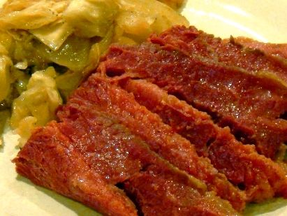 Jamie's Slow Cooker Corned Beef and Cabbage on MyRecipeMagic.com