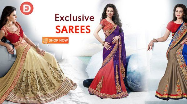 Exclusive Designer Saree Collection from top brands on huge discount only on #FarziDeal