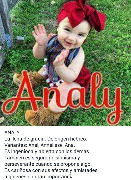 Nombres para bebé, niñas, significado de: Analy