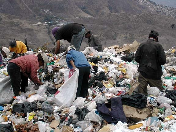 El basurero en Tegucigalpa, Honduras
