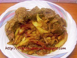 Χοιρινό ψητό της κατσαρόλας με μελωμένες πατάτες