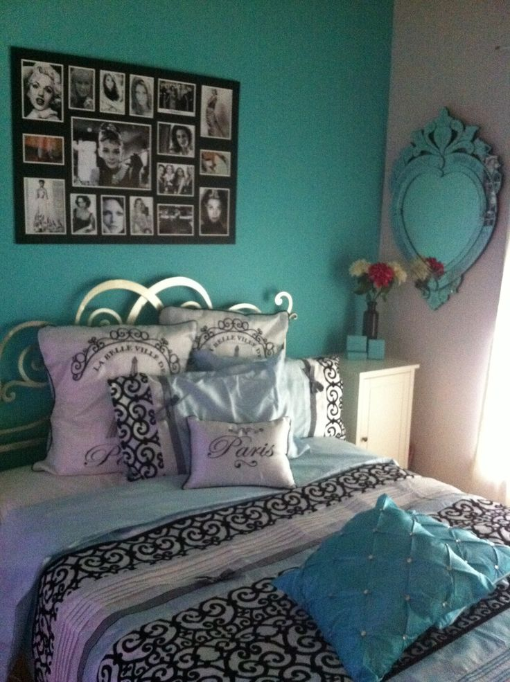 125 best images about girls room on pinterest kid for Black feature wall bedroom ideas
