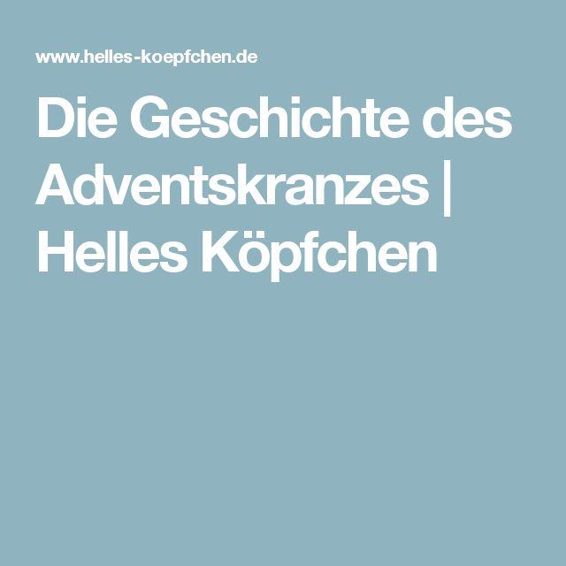 die geschichte des adventskranzes helles k pfchen deutsche weihnachten deutsche. Black Bedroom Furniture Sets. Home Design Ideas