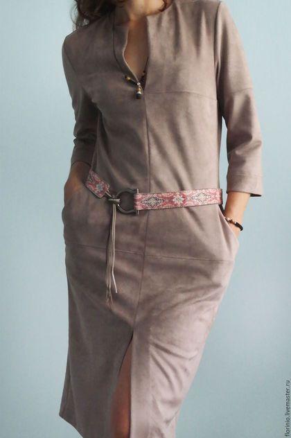 Купить или заказать Платье Geralda в интернет-магазине на Ярмарке Мастеров. Шикарное платье, выполненное из искусственной замши, смотрится как натуральное. Трикотаж, из которого выполнено изделие, двусторонний - сверху замшевое покрытие, снизу вискозный трикотаж, поэтому платье не только красиво смотрится, но и приятное к телу. Данная ткань в ограниченном количестве. Также возможно изготовление в другом цвете, но ткань односторонняя, смотреться будет ничем не хуже.