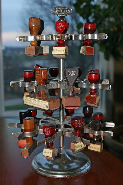 """Rubber stamp tree - every office desk had one to hold all the stamps you used on paperwork.  And of course to stamp """"Copy"""" when necessary.  Not that you could ever miss a copy since it was on carbon paper or in purple mimeography."""