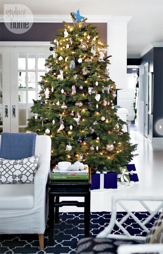 Navy and dark gray walls
