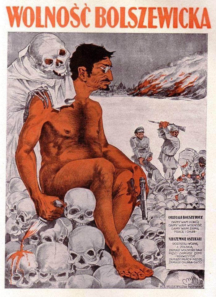"""Bolshevik freedom"" - Polish propaganda poster."