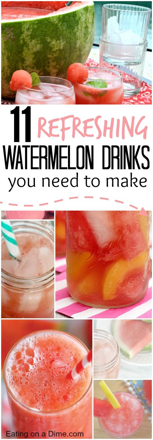 Anyone else just love watermelon? Watermelon is cheap right now, so you just need to try one of these 11 Delicious Watermelon Drink Recipes