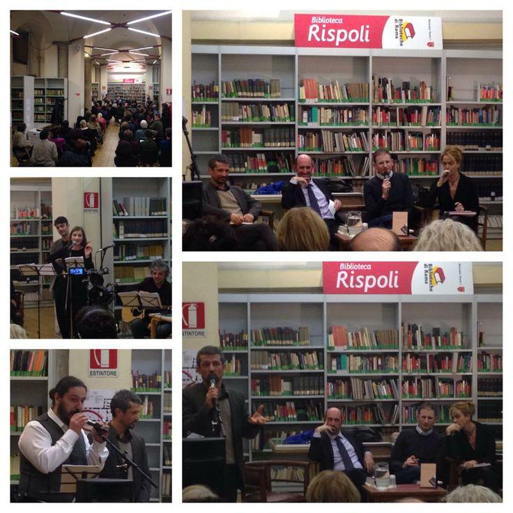 """Presentazione de """"La biblioteca di Gould"""" di Bernard Quiriny alla Biblioteca Rispoli di Roma. Con l'autore Lorenzo Flabbi, Julien Donadille e la Compagnia Barone Chieli Ferrari."""