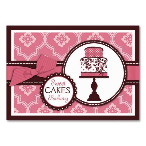 442 best bakery business cards images on pinterest bakery business sweet cake business card cheaphphosting Gallery