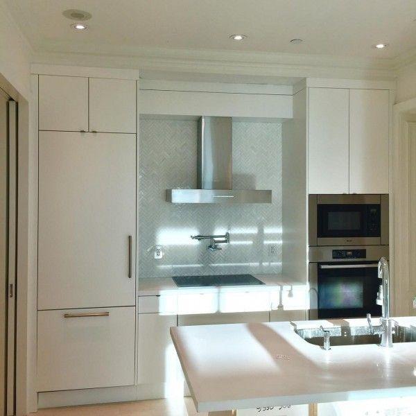 Greatest Fashionable White Kitchen Cupboard Concepts For 2019 White Kitchen Cupboards Kitchen Cabinet Design Kitchen Design Small