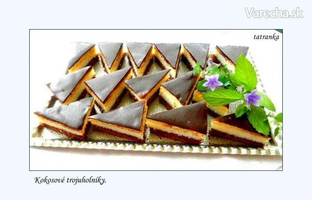 Kokosové trojuholníky (fotorecept) - Recept