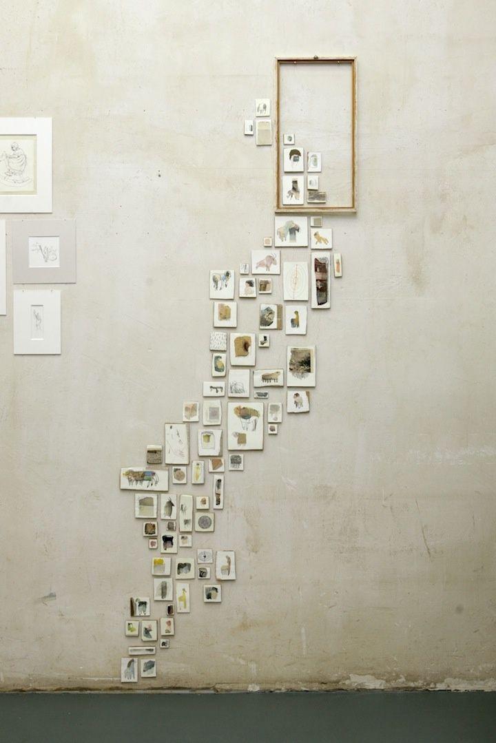 Oude postkaarten ophangen