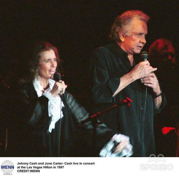 Johnny Cash and June Carter Cash in concert Las Vegas Hilton 1997